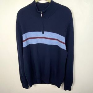 Brooks Brothers 100% Merino Wool Half Zip Pullover